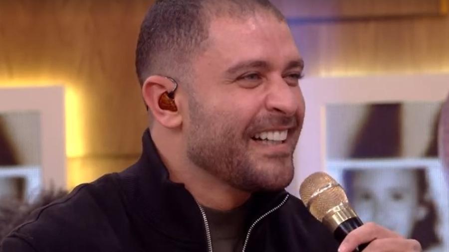 """Diogo Nogueira fala de Paolla Oliveira no """"Encontro com Fátima Bernardes"""" - Reprodução/TV Globo"""