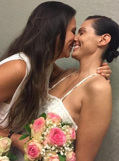 Angelis Borges se casa com Nina Fisher em Nova York
