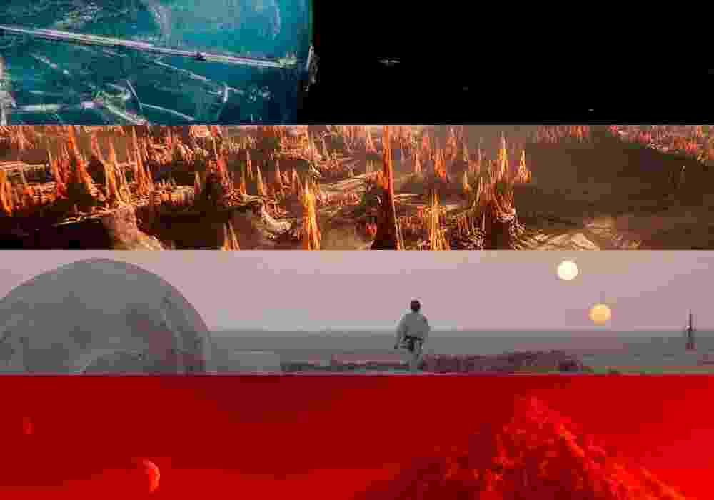 """Cenas dos filmes """"Star Trek: Sem Fronteiras"""" (2016), """"Ender's Game - O Jogo do Exterminador"""" (2013), """"Star Wars"""" (1977) e  """"O Vingador do Futuro"""" (1990) - Montagem/Reprodução"""