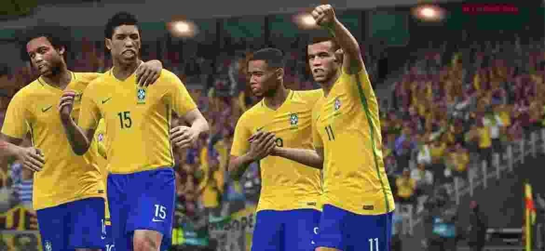 Brasil no PES 2018 - Reprodução