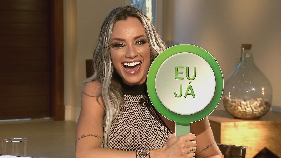"Juju Salimeni no programa ""Gugu"" - Reprodução/RecordTV"