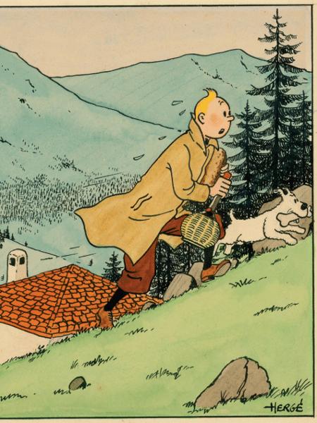 Tintin, criado pelo belga Hergé - Reprodução