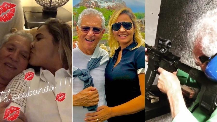 Carlos Alberto de Nóbrega e a mulher, Renata Domingues se despedem da lua de mel em Orlando (EUA) - Montagem/UOL/Reprodução/Instagram