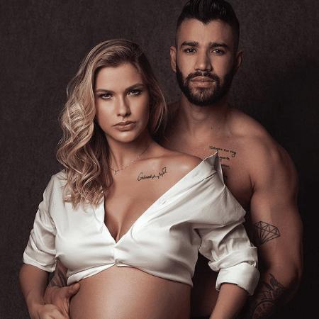 Gusttavo Lima e a mulher, Andressa Suita - Manson Studio/ Reprodução Instagram