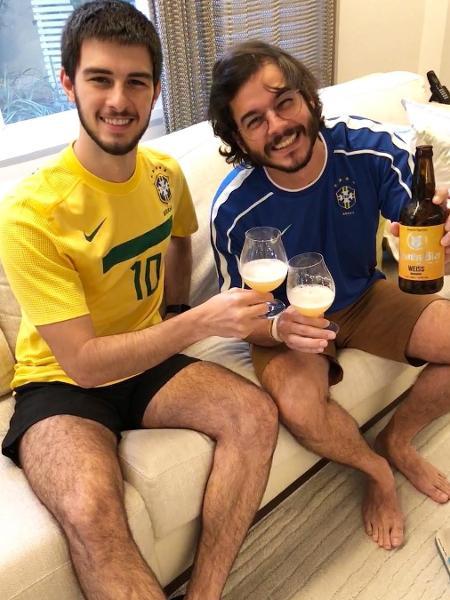 Tulio Gadêlha publicou foto ao lado de Vinicius, seu enteado, no Instagram - Reprodução/Instagram