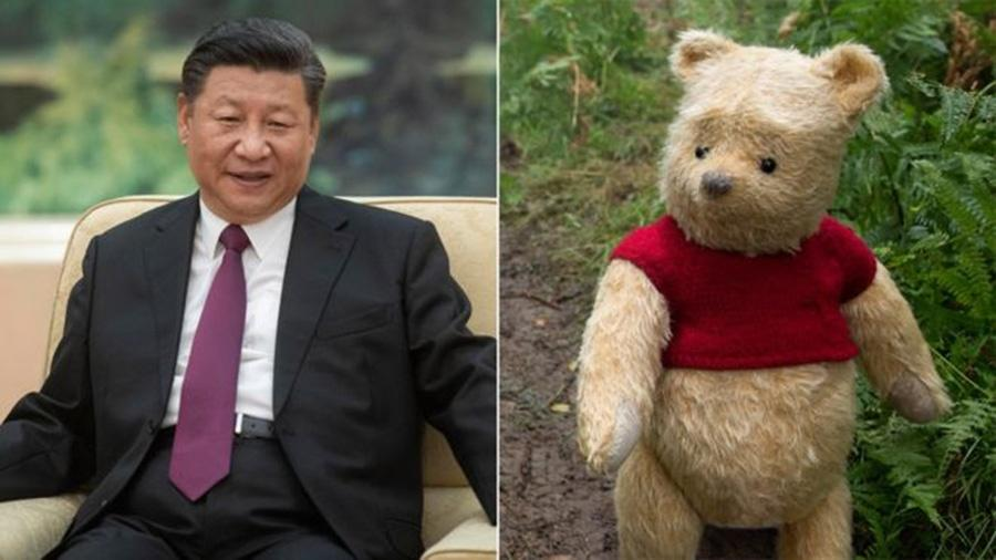 O presidente da China, Xi Jinping, tem sido comparado ao Ursinho Puff - GETTY/LAURIE SPARHAM