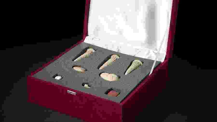 Os artefatos foram confiscados pela política britânica em maio de 2003 - The British Museum/AFP
