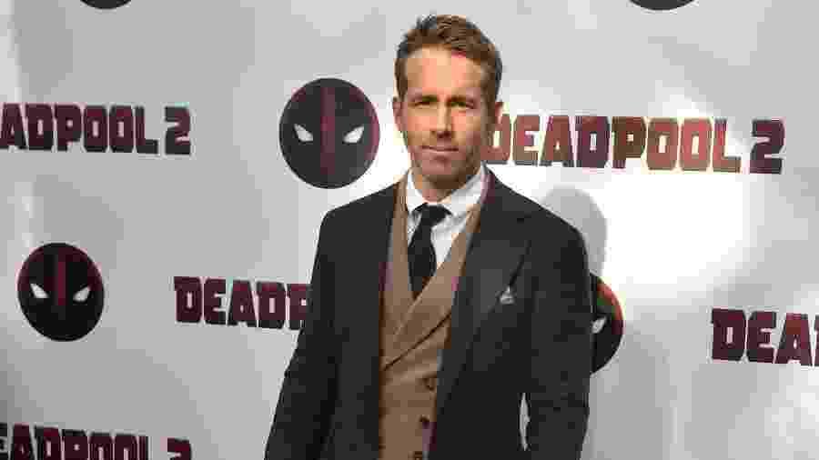 """O ator Ryan Reynolds durante a première de """"Deadpool"""" em Nova York - Hector Retamal/AFP"""