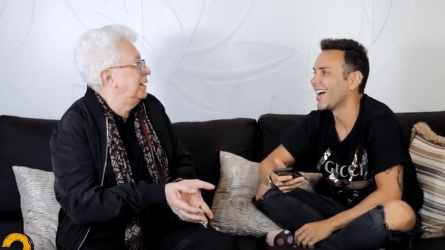 Aguinaldo Silva é entrevistado por Matheus Mazzafera - Reprodução/YouTube