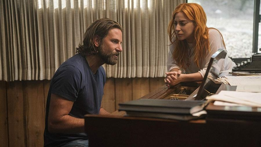 """Bradley Cooper e Lady Gaga em """"Nasce Uma Estrela"""" (2018) - Reprodução"""
