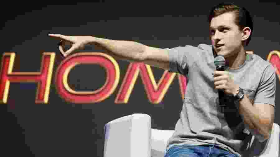 """Tom Holland fala sobre """"Homem Aranha: Longe de Casa"""" na CCXP 2018 - Iwi Onodera/UOL"""