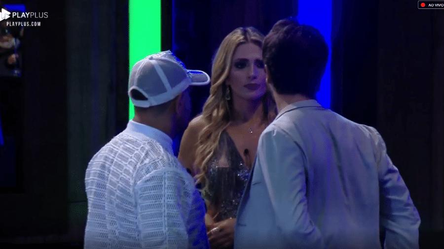 """Nadja Pessoa na festa final de """"A Fazenda 10"""" - Reprodução/Play Plus"""