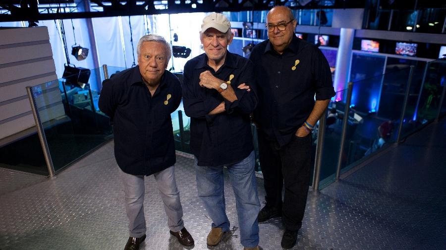 Juarez Soares, Silvio Luiz e Luiz Ceará, do esporte da Rede TV!, serão acionados na transmissão do campeonato italiano - Rede TV!