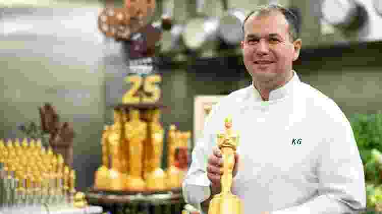 Chef Kamel Guechida na cozinha do Oscar - Valerie Macon/AFP - Valerie Macon/AFP