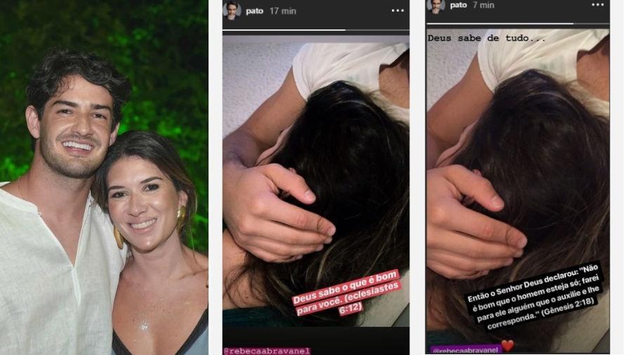 Alexandre Pato publica momento de carinho com Rebeca Abravanel - Divulgação/Alexandre Virgílio//Reprodução/Instagram