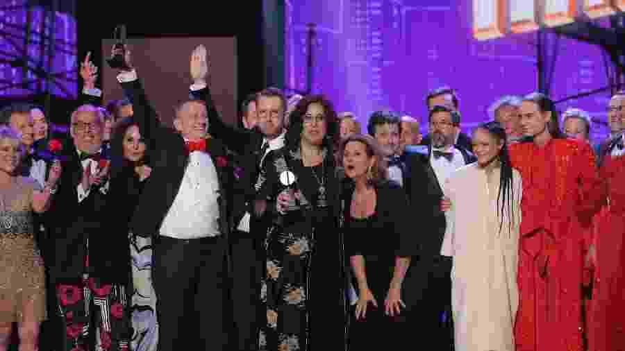 Elenco e produção de Hadestown comemora vitória no Tony Awards - REUTERS/Brendan McDermid
