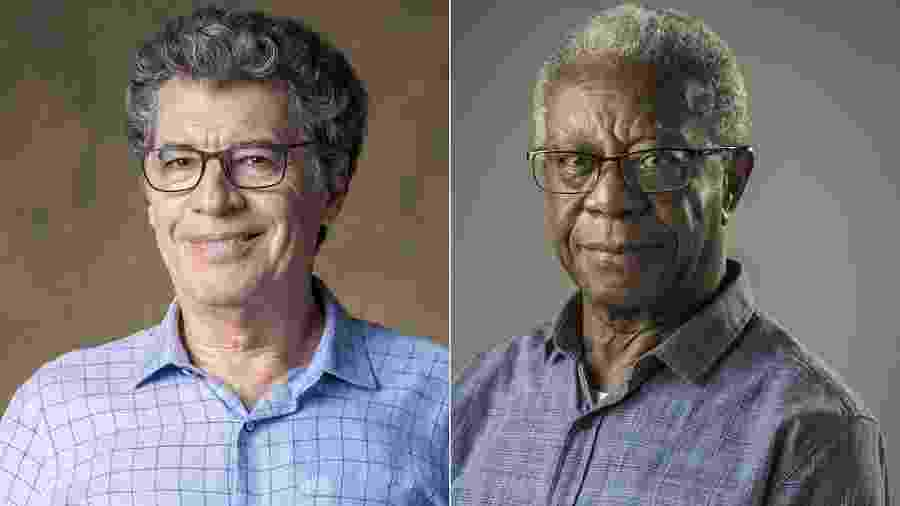 Os atores Paulo Betti e Milton Gonçalves - Montagem/UOL/Paulo Belote/Mauricio Fidalgo/TV Globo