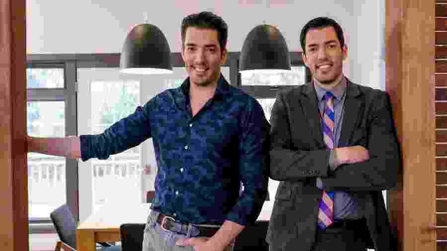 """Drew e Jonathan Scott, do reality """"Irmãos à Obra""""; eles estarão em São Paulo em 20 de agosto - Divulgação/ Grupo Discovery"""