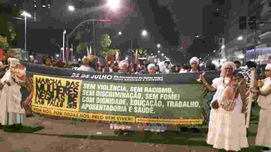 Em 2019, a Marcha das Mulheres Negras foi para as ruas de São Paulo - Reprodução/Facebook