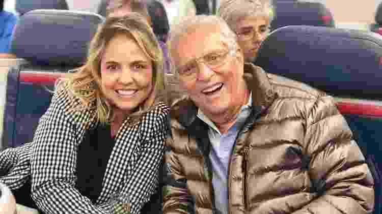 Renata Domingues e Carlos Alberto de Nóbrega - Reprodução/Instagram - Reprodução/Instagram