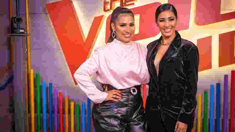 Simone e Simaria durante coletiva de imprensa do The Voice Kids - João Cotta/Globo