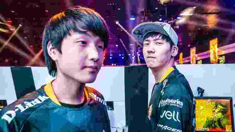 SuNo e Winged, em 2014, foram os primeiros jogadores coreanos a disputar o CBLoL  - Divulgação/Agência X5