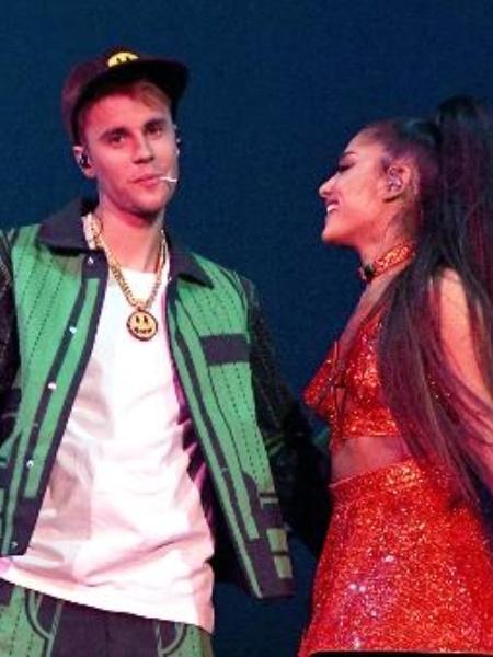 Justin Bieber e Ariana Grande - Reprodução