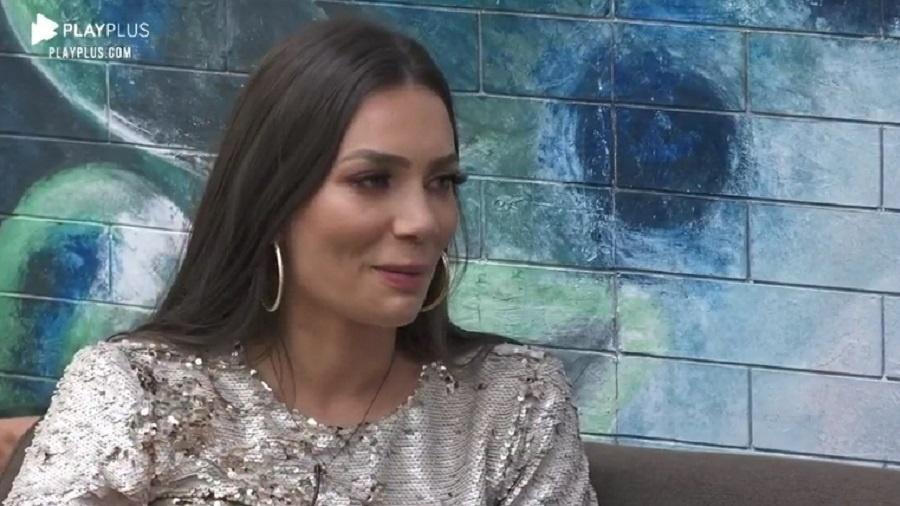 A Fazenda 2020: Stéfani Bays diz que ficaria com a cantora Anitta - Reprodução/Playplus