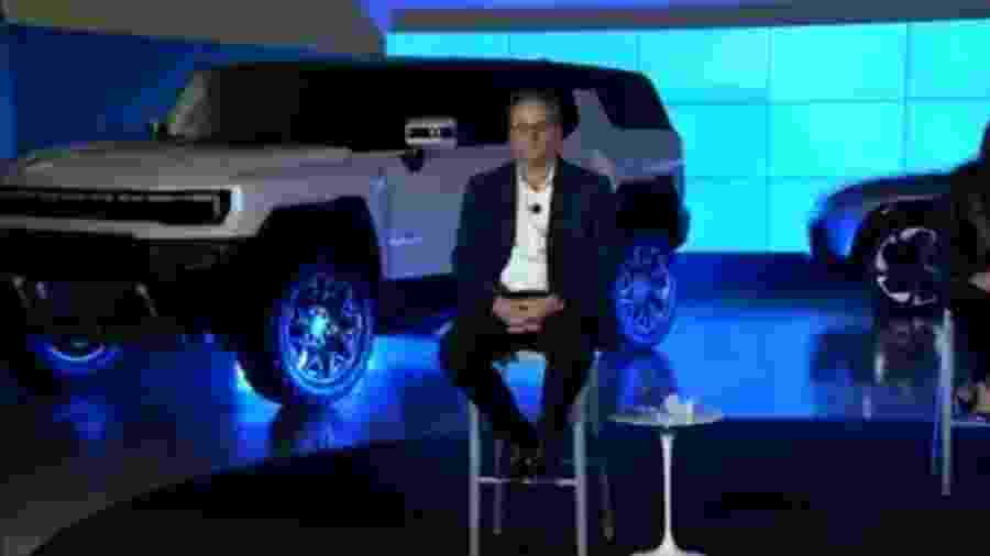 SUV do Hummer EV vaza em conferência da GM - Reprodução