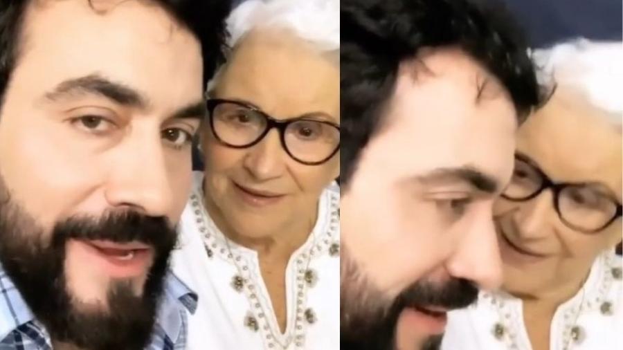 Padre Fábio de Melo e sua mãe - Reprodução Instagram