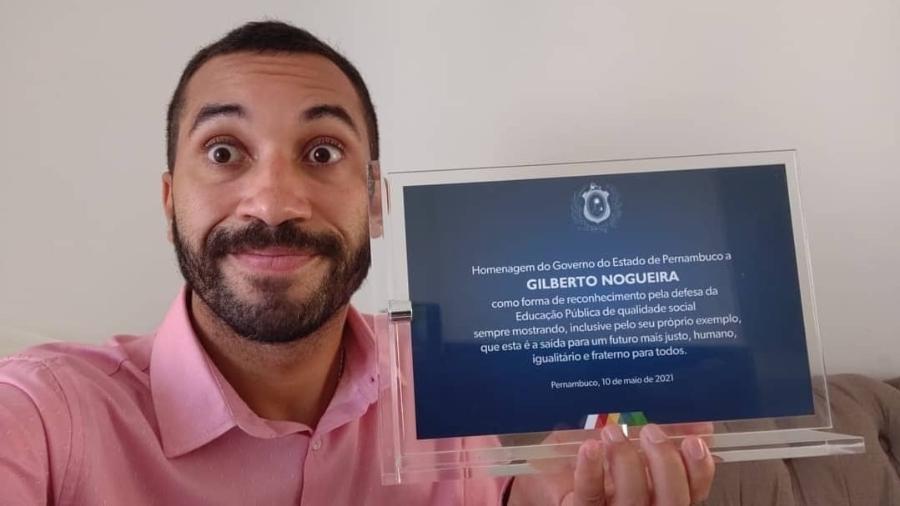 """Gilberto, do """"BBB 21"""", recebe homenagem de Pernambuco - Reprodução/Instagram"""