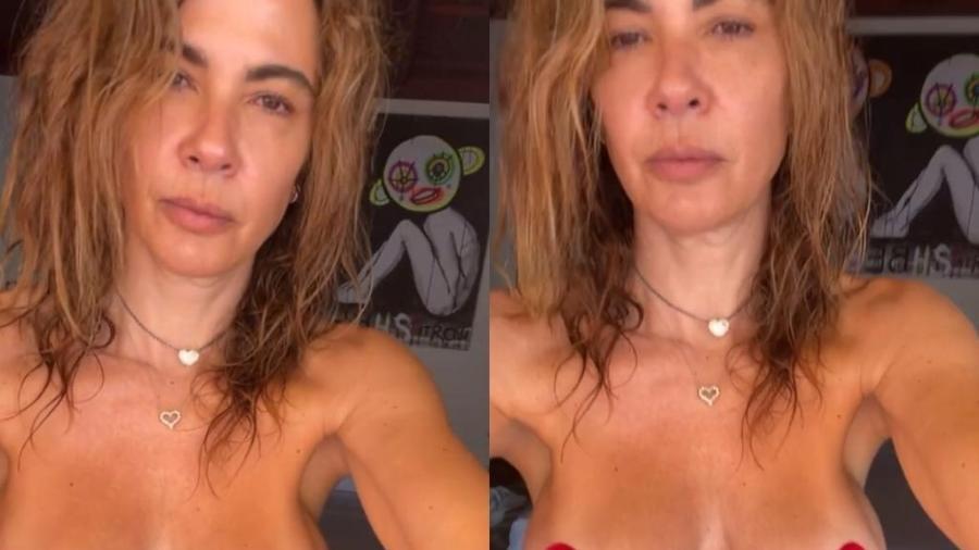 Luciana Gimenez fez topless em Ibiza - Reprodução / Instagram