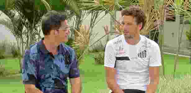"""Fernando Fernandes entrevista Elano no """"Papo de Boleiro"""" - Divulgação - Divulgação"""