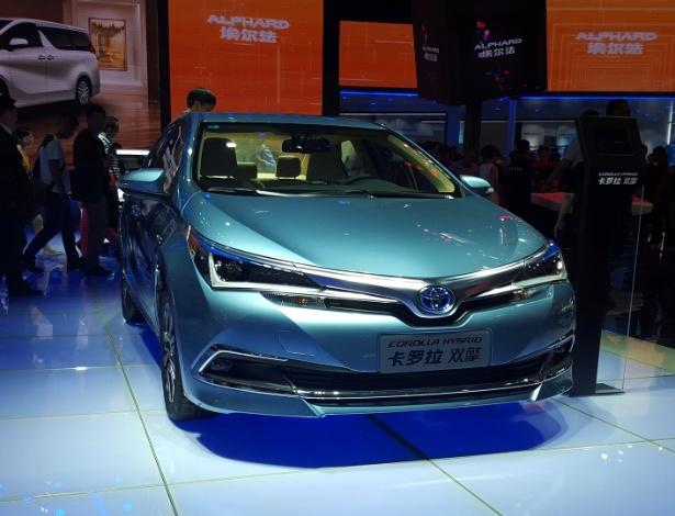 Assim como já ocorre com derivação Hybrid na China, Corolla brasileiro ganhará um quê de Prius e C-HR no visual dianteiro a partir de 2017 - Leonardo Felix/UOL