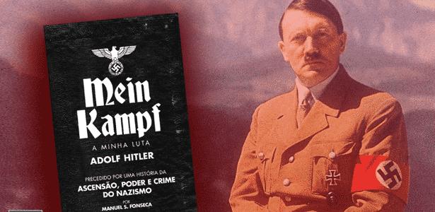 """Imagem de divulgação da versão em português de """"Mein Kampf"""", da editora Guerra & Paz - Divulgação"""