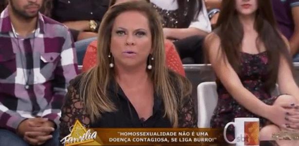 """No """"Casos de Família"""", Christina Rocha se irrita com mulher homofóbica - Reprodução/SBT"""