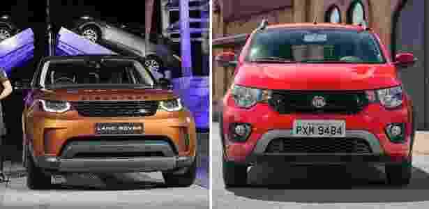 Novo Discovery e Fiat Mobi - Arte UOL Carros - Arte UOL Carros