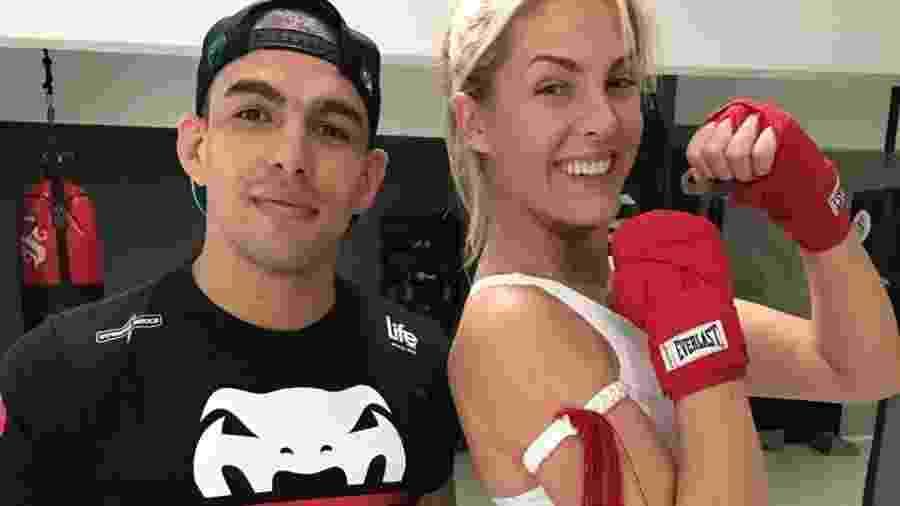 Ana Hickmann e seu treinador, o lutador de MMA Lucas Mineiro Imagem  Arquivo  Pessoal 0e70c582bd