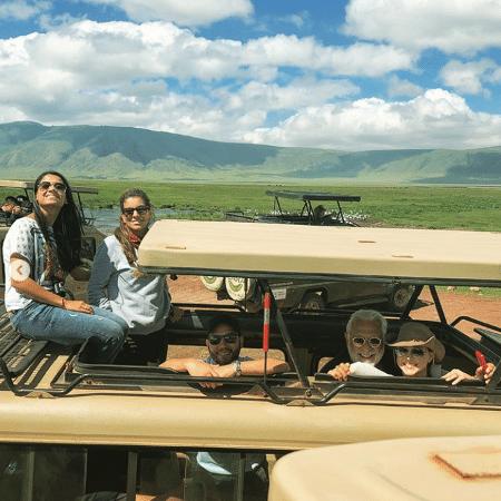 Antonio Fagundes durante viagem em família para a África - Reprodução/Instagram/bruno.fagundes