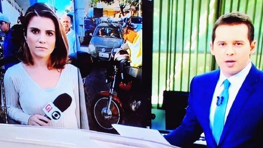 Dony De Nuccio erra nome da repórter Iana Coimbra no plantão da greve dos caminhoneiros - Reprodução/Instagram/ianacoimbra