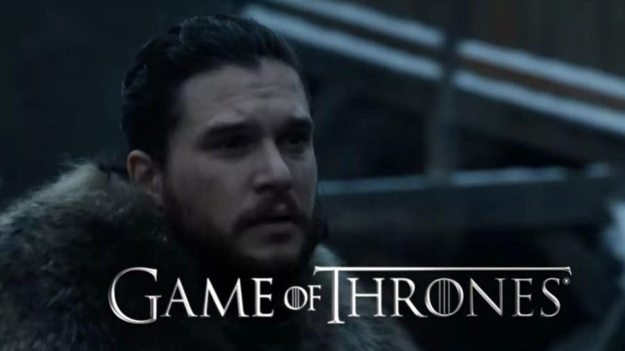 """Jon Snow na primeira cena da oitava temporada de """"Game of Thrones"""" - Reprodução"""