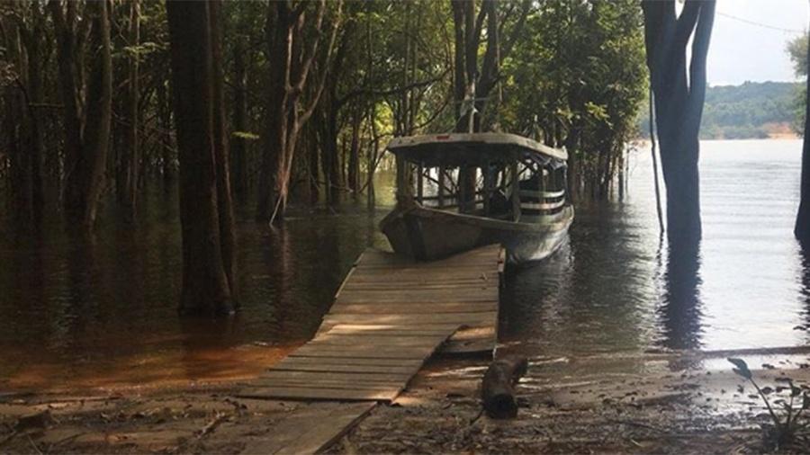 """Leandra Leal publicou imagens em um dos locais das gravações de """"Aruanas"""", na Amazônia - Reprodução/Instagram"""