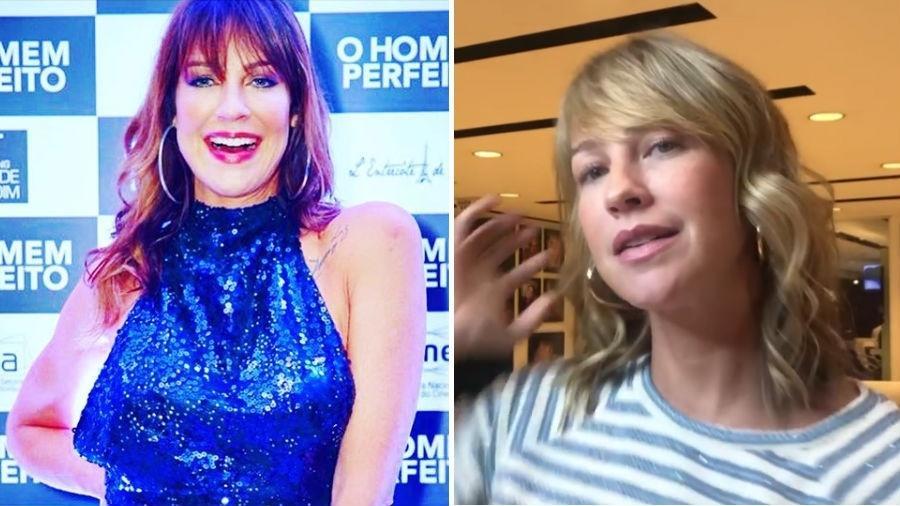 Luana Piovani antes e depois de mudar o visual: cabelos loiros novamente e mais curtos - Reprodução/Instagram