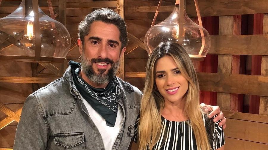 """Marcos Mion ao lado de Nadja Pessoa, que foi expulsa da """"Fazenda"""" por mau comportamento - Reprodução/Instagram"""