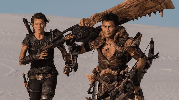 """Milla Jovovich e Tony Jaa em cena de """"Monster Hunter"""" - Reprodução - Reprodução"""