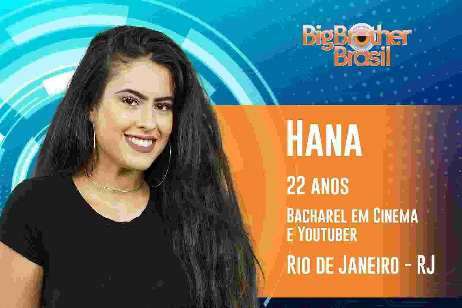 Hana é a nona participante anunciada do ?BBB19? - Reprodução/TvGlobo