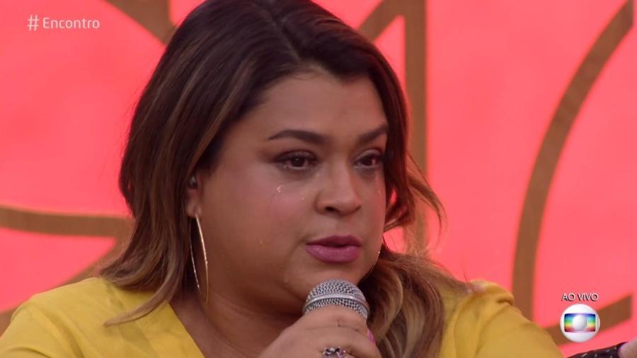 """Preta Gil chora no """"Encontro"""" ao ver mensagem de Carolina Dieckmann - Reprodução/Globo"""