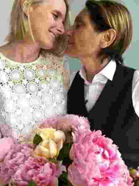 Elizabeth e Rayya Elias, no dia do casamento, em 7 de junho de 2017 - Reprodução/Instagram