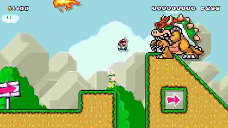 Parece só mais uma fase de Mario, até você tentar chegar no final - Reprodução/Twitter
