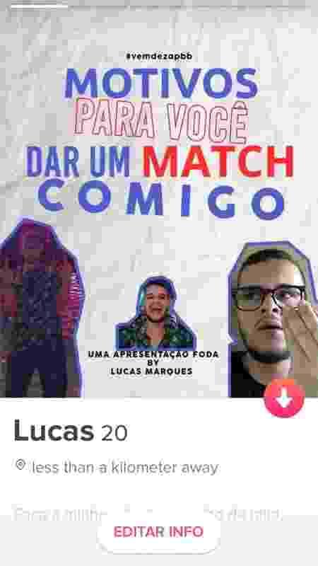 Lucas colocou perfil no Twitter e ideia viralizou - Arquivo Pessoal